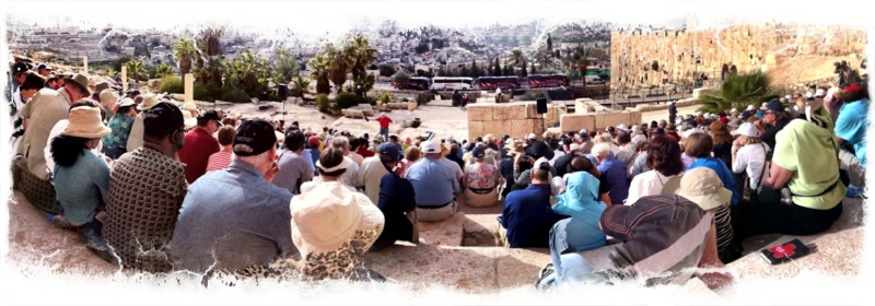 Chuck Preaching On The Southern Steps Of The Temple Mount Inspiration Cruises Amp Tours Exceptional Christian Travel Experiences