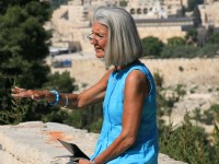 "Anne Graham Lotz teaching about Disciples living in the light of Christ's return"" Matthew 24 from Mount of Olives garden"