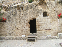Entrance to the Garden Tomb with Anne Graham Lotz