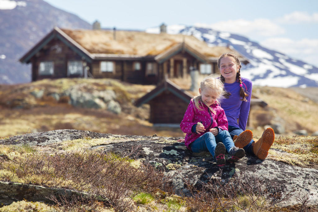 Young girls at home in Norway
