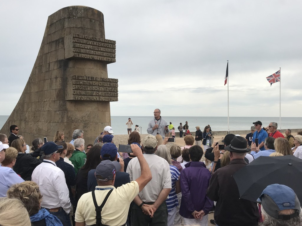 Omaha Beach Memorial ON18FR Oliver North Normandy