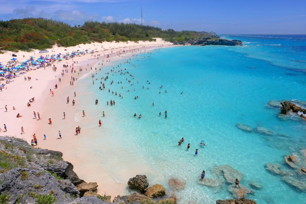 pink sands Horseshoe Bay Bermuda