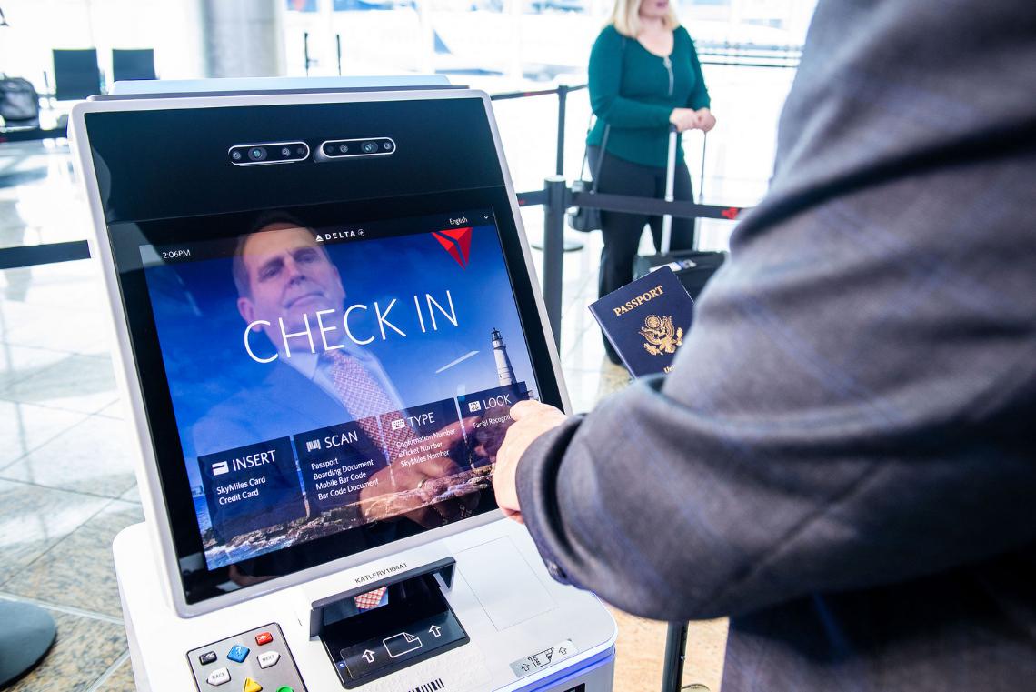 Travel Tech Delta S Facial Recognition Kiosks For