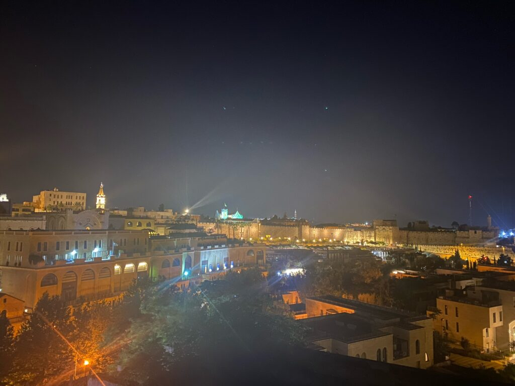 Jerusalem is quiet and beautiful in the evening