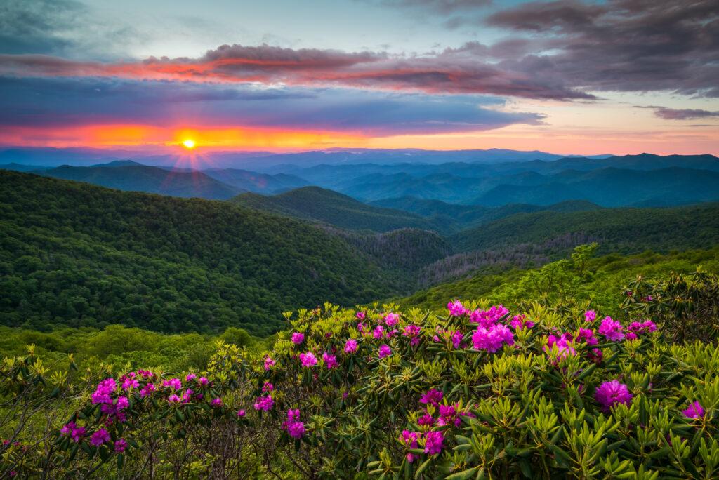 Appalachian Mountain view from Blue Ridge Parkway