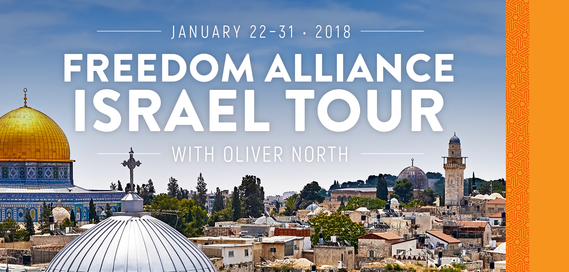 Take a Christian TourWOX with Freedom Alliance Israel Tour - Christian Tour to Israel - January 22-31, 2018