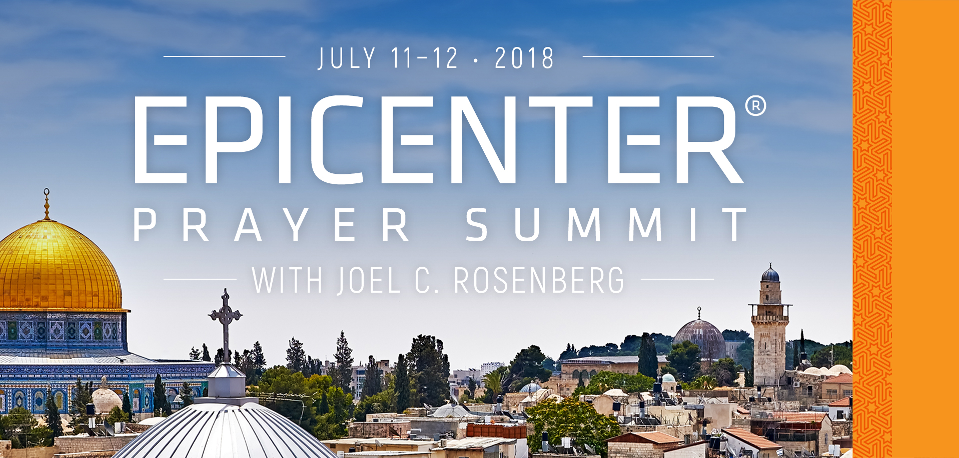 Take a Christian TourWOX with Epicenter Prayer Summit - Israel - July 11-12, 2018