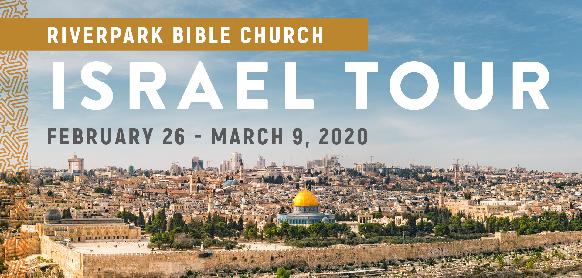 Take a Christian TourWOX with Riverpark Bible Church - Christian Tour to Israel - Feburary 26 - March 9, 2020