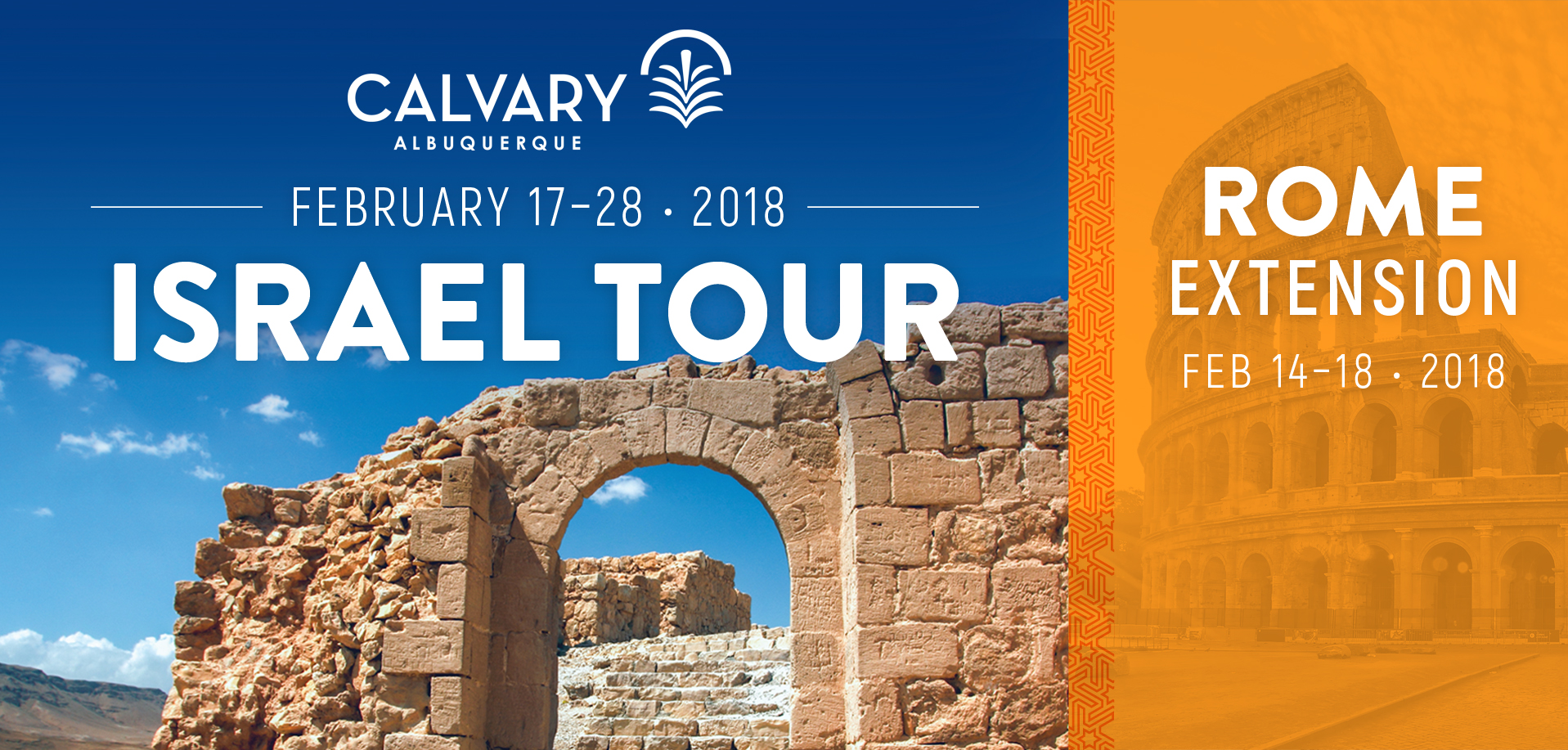 Take a Christian TourWX with Calvary Albuquerque - Christian Tour to Israel - February 17 - 28, 2018